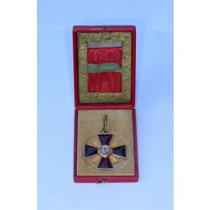Russland, St. Anna Orden, Kreuz 2.Klasse (Gold), im Etui