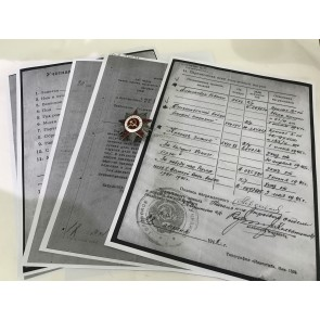 Sowjetunion, Orden des Vaterländischen Krieges 2. Klasse mit Archiv Material