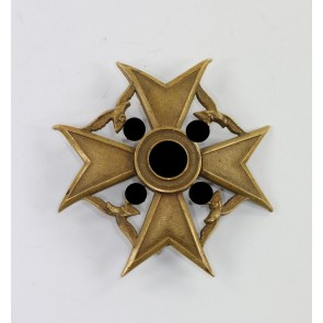 Spanienkreuz in Bronze, Godet