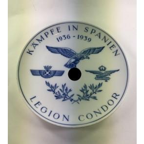"""Meißen, Wandteller """"Legion Condor Kämpfe in Spanien 1936 - 1939"""""""
