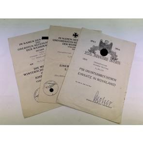 Urkunden Gruppe 253. Infanterie Division, Russland Urkunde (!)