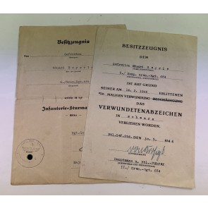 Urkunden Gruppe Grenadier
