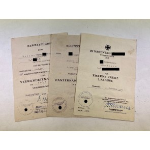 Urkunden Gruppe Leibstandarte SS Adolf Hitler, Aufklärungsabteilung