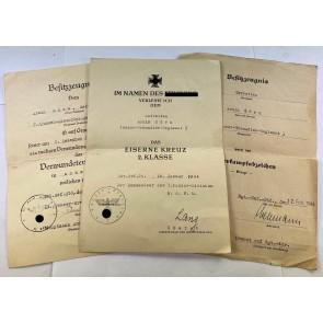 Urkunden Gruppe Panzergrenadier