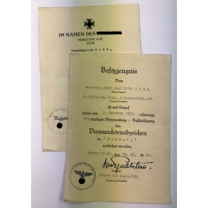 Urkunden Infanterie