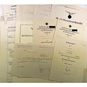 Urkunden Nachlas Flugzeugführer- und Beobachterabzeichen