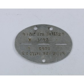 Erkennungsmarke, Infanterie Ersatz Bataillon 323