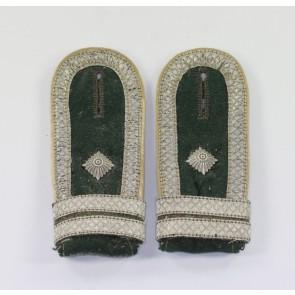 Wehrmacht Heer, Paar Schulterklappen für einen Fahnenjunker-Feldwebel der Infanterie
