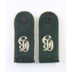 Wehrmacht Heer, Paar Schulterklappen für Mannschaften im Infanterie Regiment Großdeutschland (GD)