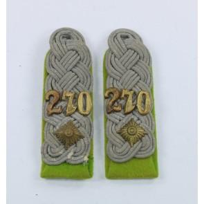 Wehrmacht Heer, Paar Schulterklappen Oberstleutnant Panzergrenadier Regiment 270