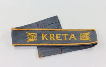 "Ärmelband ""Kreta"", Kriegsmarine Ausführung (!) - Militaria-Berlin"