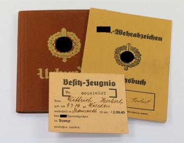 Nachlass SA Wehrabzeichen - Militaria-Berlin
