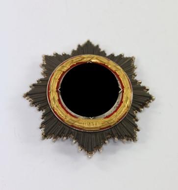 Deutsches Kreuz in Gold, Deschler (schwer) kurze Nadel, 6 Nieten - Militaria-Berlin