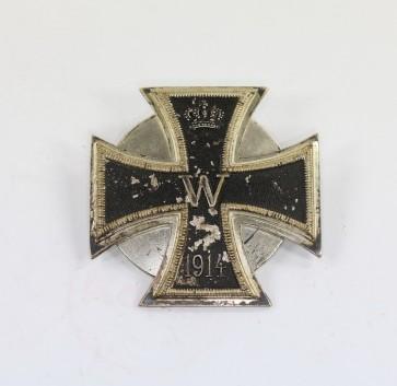 Eisernes Kreuz 1. Klasse 1914, Petz & Lorenz, an Scheibe und Mutter, nicht magnetisch - Militaria-Berlin