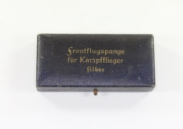 Etui Frontflugspange für Kampfflieger in Silber - Militaria-Berlin