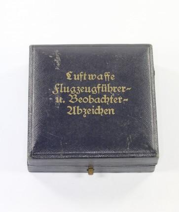 Frühes Etui, Luftwaffe Flugzeugführer- u. Beobachterabzeichen (Doppelabzeichen) - Militaria-Berlin
