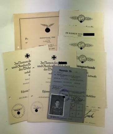 Urkunden Gruppe Fernaufklärer  - Militaria-Berlin