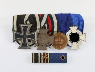 Ordenschnalle 4X, mit Feldspange - Militaria-Berlin
