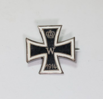 Miniatur Eisernes Kreuz 1. Klasse 1914, Silber (800), emailliert - Militaria-Berlin