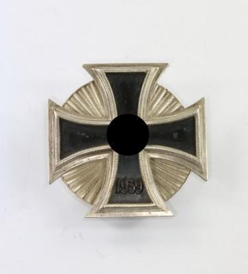 Eisernes Kreuz 1. Klasse 1939, Schinkel an Stern Scheibe, Wilhelm Deumer, magnetisch! - Militaria-Berlin