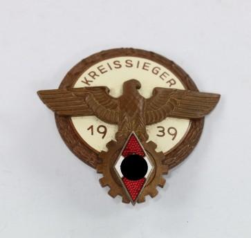 Kreissieger im Reichsberufswettkampf 1939, Hst. Ferd. Wagner Pforzheim - Militaria-Berlin