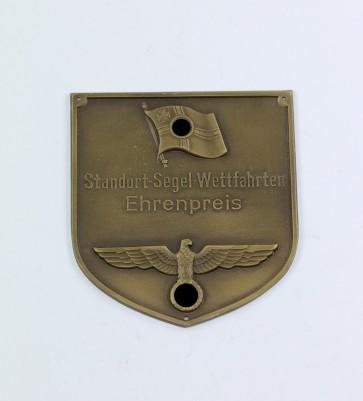 Kriegsmarine, Plakette, Standort-Segel-Wettfahrten Ehrenpreis - Militaria-Berlin