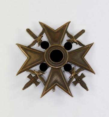 Spanienkreuz in Bronze mit Schwerterm, Hst. FR Sedlatzek Berlin S.W. 68 - Militaria-Berlin