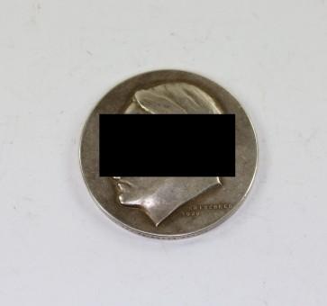 Medaille, Adolf Hitler - Vor 50 Jahren am 20. April 1889 wurde unser Führer Adolf Hitler der Schöpfer des Grossdeutschen Reiches geboren - Militaria-Berlin