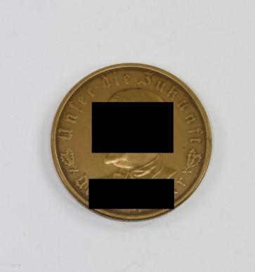 """Medaille, """"Adolf Hitler Unser die Zukunft"""", Bayrisches Hauptmünzamt - Militaria-Berlin"""