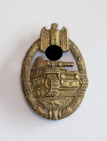 Panzerkampfabzeichen in Bronze, Wurster, Buntmetall - Militaria-Berlin