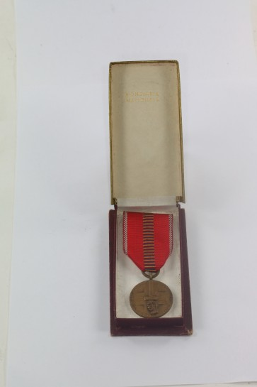 Rumänien, Medaille Kreuzzug gegen den Kommunismus - Romania Recunoscatoare, im Etui - Militaria-Berlin