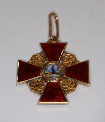 Russland, St. Anna Orden, Kreuz 2.Klasse (Gold) - Militaria-Berlin
