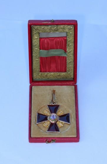 Russland, St. Anna Orden, Kreuz 2.Klasse (Gold), im Etui - Militaria-Berlin