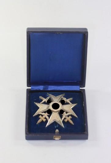 Spanienkreuz in Silber mit Schwertern, Godet 900, im Etui - Militaria-Berlin