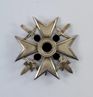 Spanienkreuz in Silber mit Schwertern, Hst. CEJ 900 - Militaria-Berlin