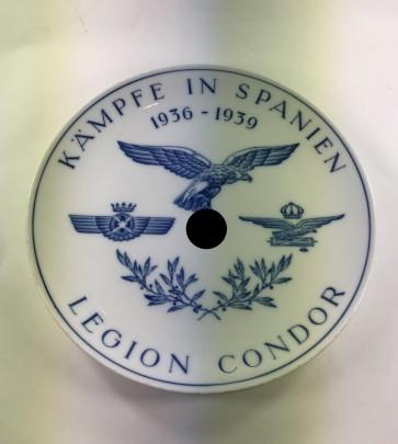 """Meißen, Wandteller """"Legion Condor Kämpfe in Spanien 1936 - 1939"""" - Militaria-Berlin"""