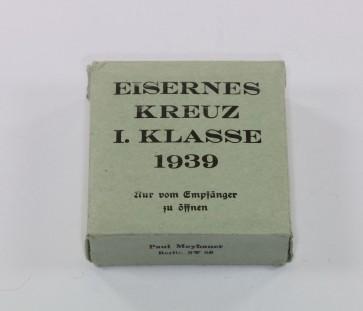 Umkarton Eisernes Kreuz 1. Klasse 1939, Paul Meybauer (grün) - Militaria-Berlin