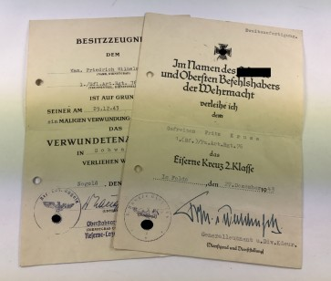 Urkunden Panzerartillerie Regiment 76 - Militaria-Berlin