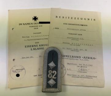Urkunden Panzernachrichtenabteilung (Afrika) - Militaria-Berlin