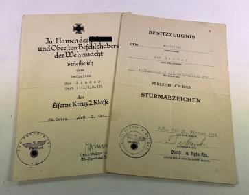 Urkunden Landungs-Pionier-Bataillion - Militaria-Berlin