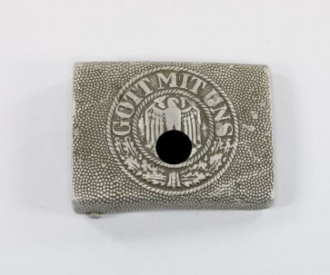 Wehrmacht Heer, Koppelschloss für Mannschaften, Hst. R.S.&S., Aluminium - Militaria-Berlin
