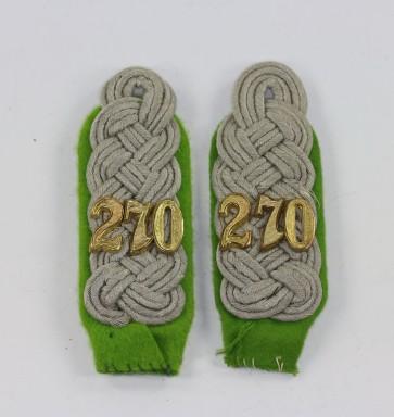 Wehrmacht Heer, Paar Schulterklappen Major Panzergrenadier Regiment 270 - Militaria-Berlin