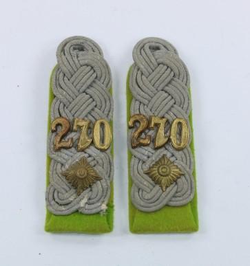 Wehrmacht Heer, Paar Schulterklappen Oberstleutnant Panzergrenadier Regiment 270 - Militaria-Berlin