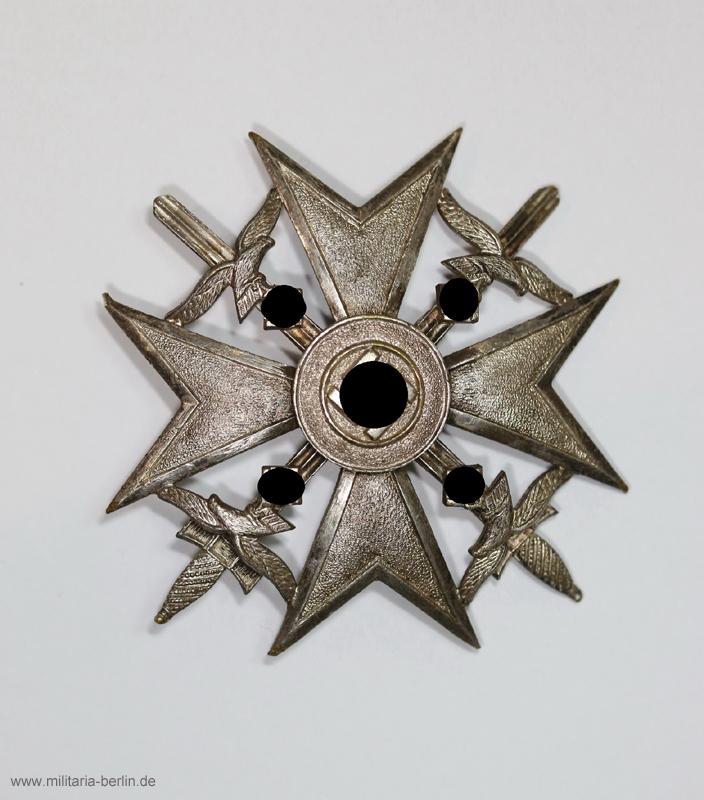 Spanienkreuz Silber mit Schwert